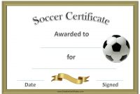 Soccer Certificate Templates for Word 3