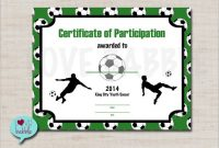 Soccer Certificate Templates for Word 7