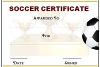 Soccer Certificate Templates for Word 9