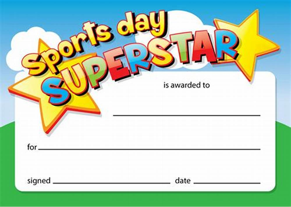 Sports Day Certificate Templates Free 3