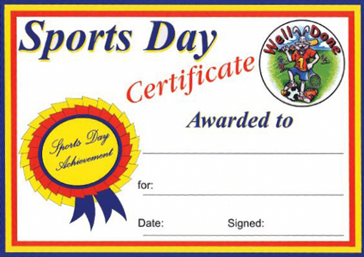 Sports Day Certificate Templates Free 5