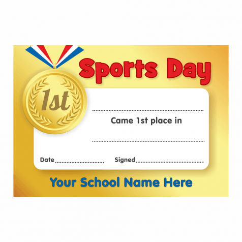 Sports Day Certificate Templates Free 6