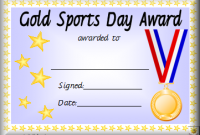 Sports Day Certificate Templates Free 8