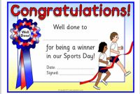Sports Day Certificate Templates Free 9