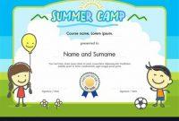 Summer Camp Certificate Template 2
