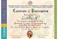 Summer Camp Certificate Template 3