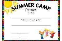 Summer Camp Certificate Template 4