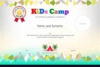 Summer Camp Certificate Template 5