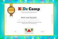 Summer Camp Certificate Template 6