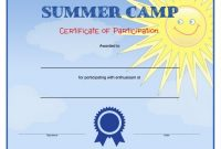 Summer Camp Certificate Template 8