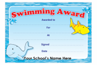 Swimming Certificate Templates Free 10