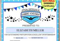 Swimming Certificate Templates Free 4