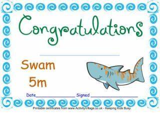 Swimming Certificate Templates Free 6