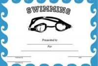 Swimming Certificate Templates Free 7