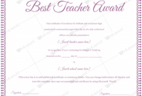 Teacher Of the Month Certificate Template 10