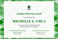 Teacher Of the Month Certificate Template 5