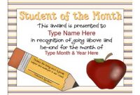 Teacher Of the Month Certificate Template 6