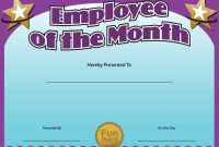 Teacher Of the Month Certificate Template 7