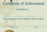 Teacher Of the Month Certificate Template 9
