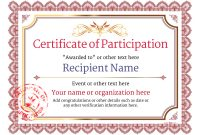 Templates for Certificates Of Participation 4