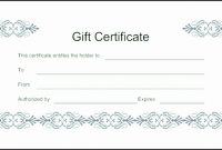 Gift Certificate Templates rhide Best of this certificate entitles the bearer template 30 printable t