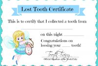 Tooth Fairy Certificate Template Free 2