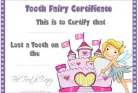 Tooth Fairy Certificate Template Free 4