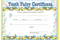Tooth Fairy Certificate Template Free 7