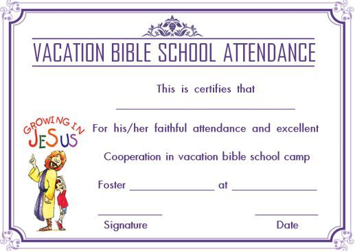 Vbs Certificate Template 10