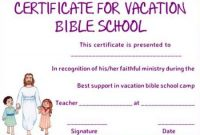 Vbs Certificate Template 11