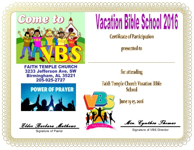 Vbs Certificate Template 3