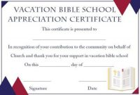 Vbs Certificate Template 8