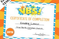 Vbs Certificate Template 9