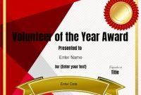 Volunteer Of the Year Certificate Template 4