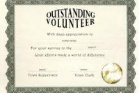 Volunteer Of the Year Certificate Template 7