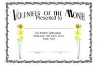 Volunteer Of the Year Certificate Template 8