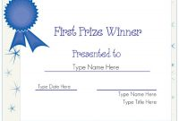 Winner Certificate Template 6