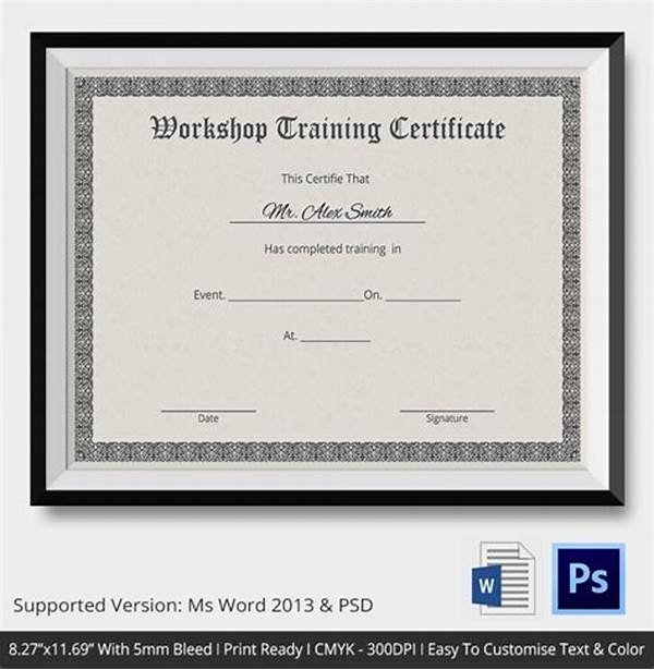Workshop Certificate Template 11