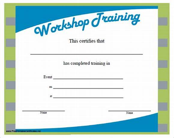 Workshop Certificate Template 2