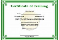 Workshop Certificate Template 3