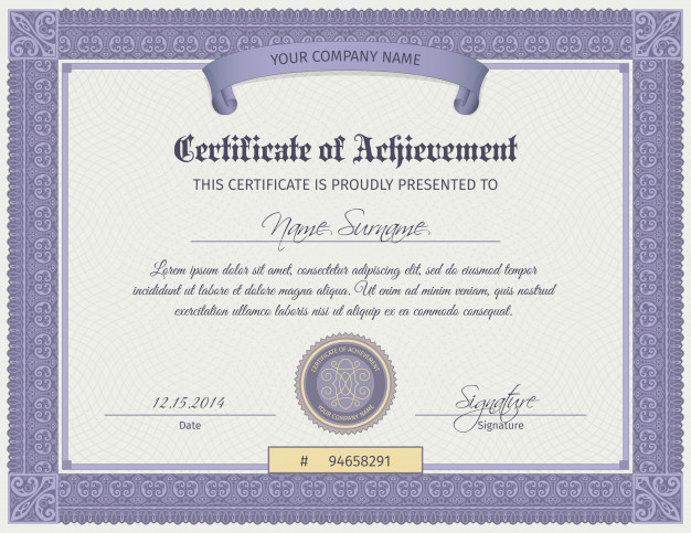 Qualification Certificate Template 1284 4550