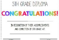 5th Grade Graduation Certificate Template 2