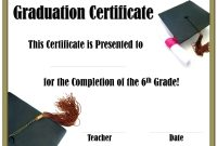 5th Grade Graduation Certificate Template 3