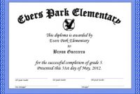 5th Grade Graduation Certificate Template 4