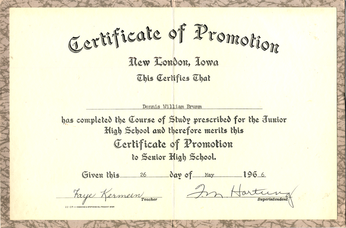 5th Grade Graduation Certificate Template 6