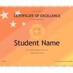 Academic Award Certificate Template