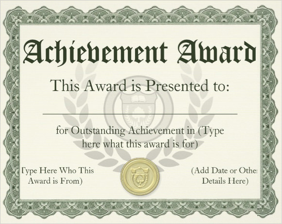 Academic Award Certificate Template 11