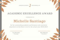 Academic Award Certificate Template 2