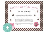 Adoption Certificate Template 10