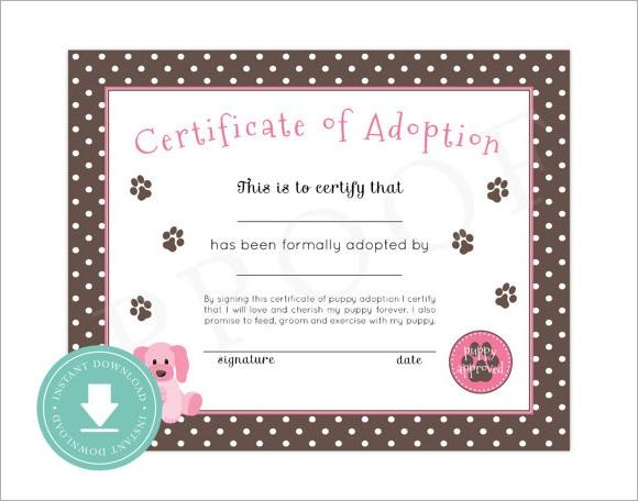 Adoption Certificate Template 10
